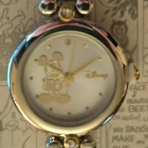 Disney Mickey Mouse Watch Silver Mickey Dial